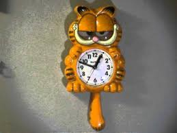Garfield Pendulum Wall Clock Moving Tail And Eyes