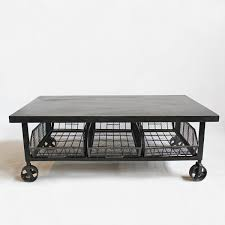 Amazoncom Industrial Iron Cart Coffee Table Garden Outdoor