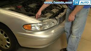 how to install replace headlight buick regal century 97 05 1aauto