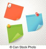 Blank Color Stickers Set On Transparent Background