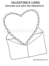 Valentines Card Doodle Coloring Page