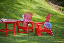 Home Depot Plastic Adirondack Chairs by Us Leisure Chili Patio Adirondack Chair 167073 U2013 The Home Depot