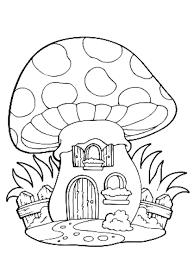 coloriage d une maison chignon à imprimer