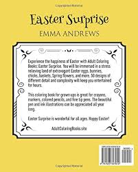 Adult Coloring Books Easter Surprise Emma Andrews 9781523347919 Amazon