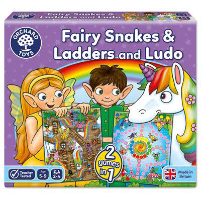 Fairy Snakes & Ladders and Ludo - Orchard Toys