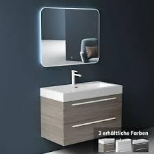 details zu badmöbel set badezimmermöbel waschtisch waschbecken unterschrank led badspiegel