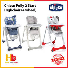 Chicco Polly 2 Start Highchair (4 Wheel)