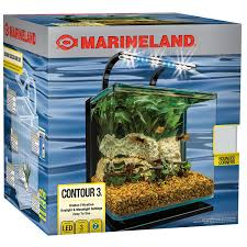 Spongebob Aquarium Decorating Kit by Marineland Contour Glass Aquarium Kit With Rail Light 3 Gallon By