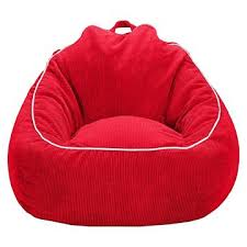 This Red Corduroy Beanbag Chair Is Perfect