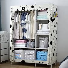 kaidi einfache kleiderschrank multifunktions stoff schrank tragbare kleiderschrank möbel tuch lagerung kleidung kleiderschrank schlafzimmer lagerung