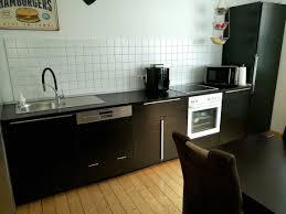 ikea küche in schwarzbraun