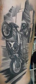 Drawn Biker Sport Motorcycle 6