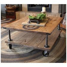 Farmhouse Industrial Coffee Table Industrial Iron And Wood Etsy