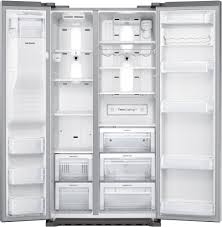 Samsung Cabinet Depth Refrigerator Dimensions by Samsung Rs22hdhpnsr 36 Inch Counter Depth Side By Side