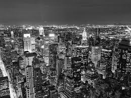 tableaux papier peint decoratif new york nuit noir et blanc