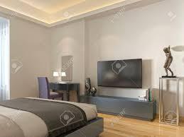 moderne tv einheit und ein schreibtisch und stuhl im wohnzimmer 3d übertragen