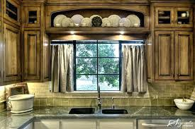 Over The Sink Kitchen Curtains Fabulous Above Window Red Burlap
