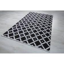 teppich parma schwarz weiß 160x230cm schwarz weiß textil