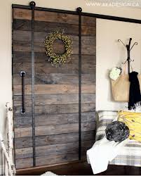 Ana White Farmhouse Headboard by Ana White Diy Pallet Sliding Barn Door And Diy Track Feature