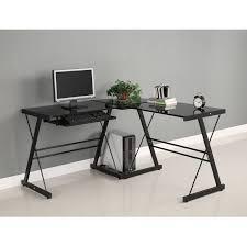 Computer Desk L Shaped Glass by Furniture Endearing Walker Edison Desk Redoubtable L Shaped