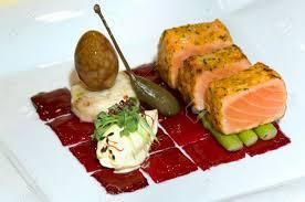 cuisine preparation malaysia kuala lumpur culinary exhibition salmon with arparagus