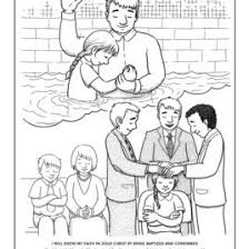 Coloring Page For Jesus Baptism Archives