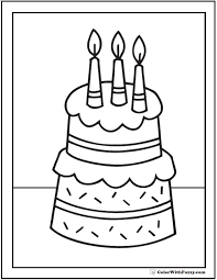printable pictures of birthday cakes 100 images easy and free