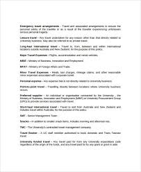 Sample Travel Policy Template