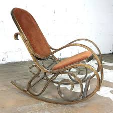 Colonial Rocking Chair In Antique Black Paint Vintage ...