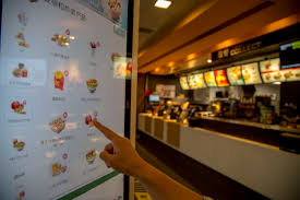 Self service ordering machines are already in service in McDonald s restaurants in China like