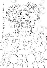 Doodle Doodling Art Coloring Pages For Japan Page Cartoon Doll
