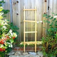 Rustic Garden Art Decorative Ladder Trellis Pot Planter Primitive Wooden