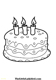 Cake Coloring Page With Cake Clipart Coloring Page Pencil And In