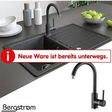 armatur küchenarmatur spülenarmatur wasserhahn mischbatterie spüle küche schwarz