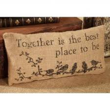 Small Burlap Together Pillow