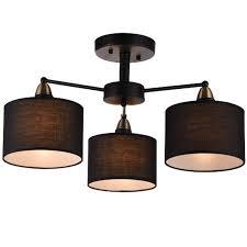 3 lichter e27 amerikanischen landhausstil vintage tuch kunst pendelleuchte cafe dekoration le wohnzimmer le