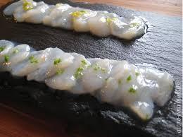 cuisiner les coquilles st jacques surgel馥s carpaccio de noix de jacques recette plume accrogourmandise