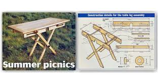 Collapsible Wooden Picnic Table Plans by Folding Picnic Table Plans U2022 Woodarchivist