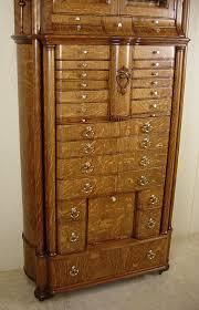 Tiger Oak Dresser Beveled Mirror by American Cabinet Co Oak Dental Cabinet Model 56