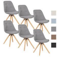 6er set esszimmerstühle küchenstuhl design stuhl leinen holz