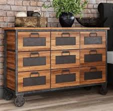 Apothecary Chest Drawers Vintage Furniture Rustic Industrial
