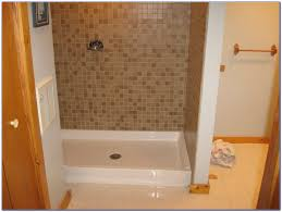 bath shower how to install fiberglass shower pan with wood