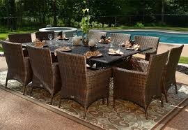 8 Person Patio Table by 7 Piece Patio Furniture