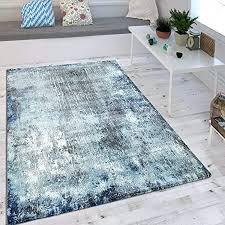 wohnzimmer teppich indigo blau trend modern maritimer stil shabby chic design grösse 160x230 cm