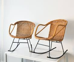 PAIR Of Mid Century Wicker Rocking Chairs MintMoss Mid Century ... Italian 1940s Wicker Lounge Chair Att To Casa E Giardino Kay High Rocking By Gloster Fniture Stylepark Natural Rattan Rocking Chair Vintage Style Amazoncouk Kitchen Best Way For Your Relaxing Using Wicker Sf180515i1roh Noordwolde Bent Rattan Design Sold Mid Century Modern Franco Albini Klara With Cane Back Hivemoderncom Yamakawa Bamboo 1960s 86256 In Bamboo And Design Market Laze Outdoor Roda