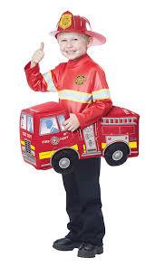 Amazon.com: California Costumes Fire Truck Hero Costume, Red ...
