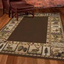 Southwest Area Rugs Rustic 5 X 8 Cabin Style Animal Nature