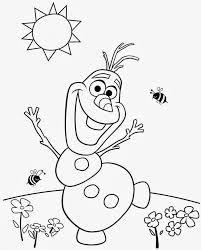 Olaf Summer Coloring Sheets 15