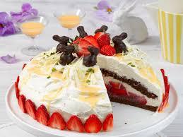süße erdbeer likör torte
