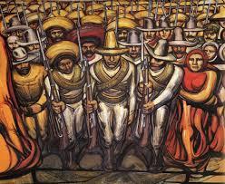 mural de alfaro siqueiros ubicado en insurgentes por el poliforum